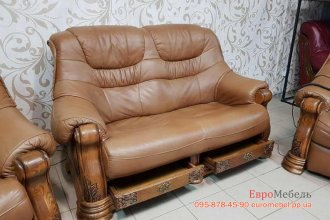Кожаный комплект мебели 2+1р+1р